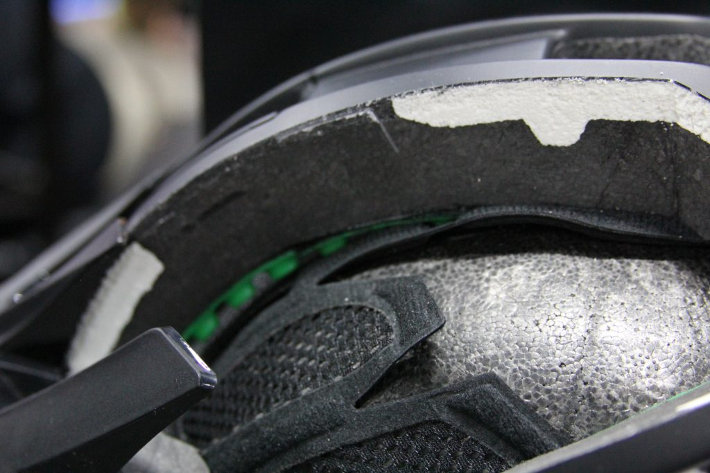 THE CUT-AWAY OF KALI'S TRAIL / ALL-MOUNTAIN HELMETS. YOU GET THE SAME FEATURES AS THE FULLFACE.