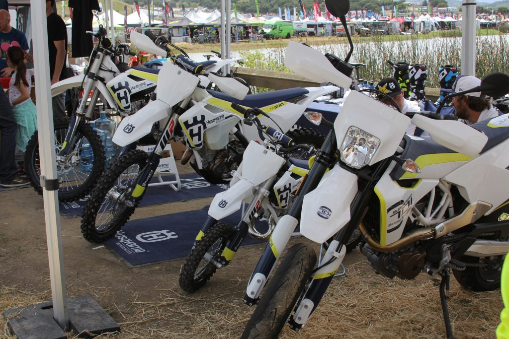 HUSQVARNA WAS OUT SHOWING OFF THERE DIRT AND DUAL LINE