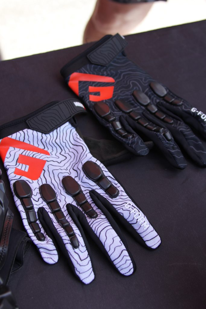 A NEW PRODUCT FROM G-FORM IS GLOVES. USING THE SAME PROTECTION AS ON THE KNEE AND ELBOW.