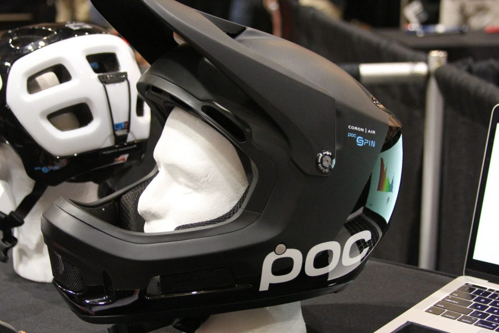"POC HAS MADE SOME CHANGES TO THEIR HELMETS.  A NEW SAFETY FEATURE CALLED ""SPIN"". SPIN IS A SILICONE THAT IS INCORPORATED INTO THE HELMET'S PADS.  THIS ALLOWS ROTATIONAL MOVEMENT IN THE EVENT OF A HIT ON YOUR HEAD DURING A CRASH."